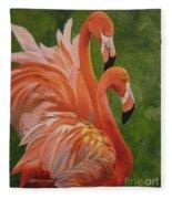 Fun Flamingos Fleece Blanket