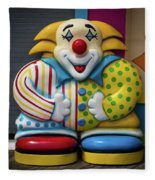 Fun House Clown Point Pleasant Nj Boardwalk Fleece Blanket