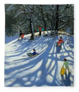 Fun In The Snow Fleece Blanket