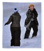 Fun In The Snow Fleece Blanket