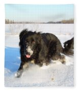 Fun In The Snow Running Fleece Blanket