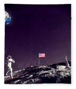 Fun On The Moon Fleece Blanket