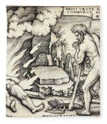 Funeral Of Hercules Fleece Blanket