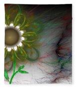 Funky Floral Fleece Blanket