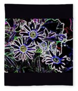 Funky Flowers Fleece Blanket