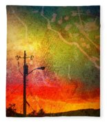 Funky Sunset Fleece Blanket