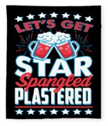 Funny Alcohol Fireworks Fourth July Gift 4th July Independence Day Fleece Blanket