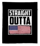 Funny American Flag Fourth July Gift 4th July Independence Day Fleece Blanket