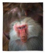 Funny Baboon Fleece Blanket