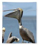 Funny Brown Pelican Fleece Blanket