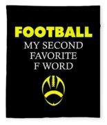 Funny Football Dad Design Second Favorite Fleece Blanket