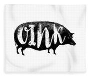 Funny Oink Pig Fleece Blanket