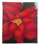 Funny Poinsettia Fleece Blanket