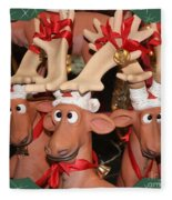 Funny Reindeer Fleece Blanket