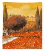 fuoco di Toscana Fleece Blanket by Guido Borelli