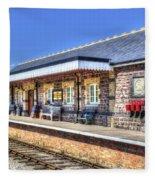 Furnace Sidings Railway Station 2 Fleece Blanket