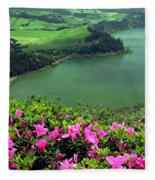 Furnas Lake Azores Fleece Blanket