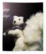 Furry Holiday Fleece Blanket