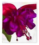 Fuschia Blossom Macro  Fleece Blanket
