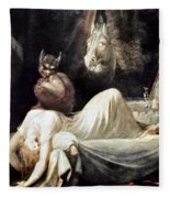 Fuseli: Nightmare, 1781 Fleece Blanket
