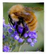 Fuzzy Honey Bee Fleece Blanket