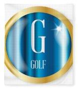 G For Golf Fleece Blanket