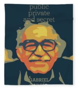 Gabriel Garcia Marquez Fleece Blanket