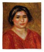 Gabrielle In A Red Blouse 1913 Fleece Blanket