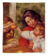 Gabrielle Jean And A Little Girl Fleece Blanket