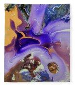 Galactic Portal. Abstract Fluid Acrylic Pour Fleece Blanket