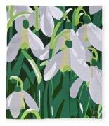 Galanthus Fleece Blanket