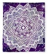 Galaxy Mandala Fleece Blanket