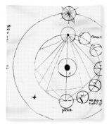Galen, Phases Of The Moon, Diagram Fleece Blanket