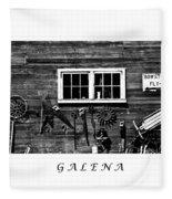 Galena Antiques Fleece Blanket
