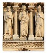 Galerie Des Rois Catherdrale Notre Dame De Paris France Fleece Blanket