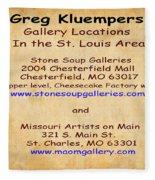 Gallery Locations In The St. Louis Area Fleece Blanket