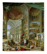 Gallery Of Views Of Ancient Rome Fleece Blanket