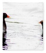 Gallinule Family Fleece Blanket