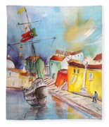 Gallion In Vila Do Conde Fleece Blanket