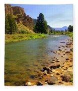 Gallitan River 1 Fleece Blanket