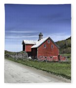 Gallop Road Barn Fleece Blanket