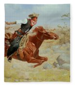 Galloping Horseman Fleece Blanket