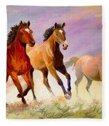 Galloping Horses Fleece Blanket