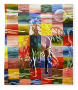 Galloping In The Night Fleece Blanket