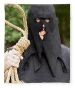 Gallows Hangman With Noose Fleece Blanket