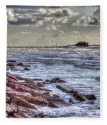 Galveston's Piers Fleece Blanket