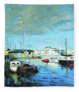 Galway Docks Fleece Blanket