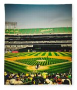 Game Day In Oakland Fleece Blanket