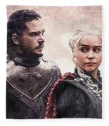 Game Of Thrones. Jon Snow And Daenerys Targaryen Fleece Blanket