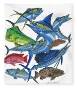 Gamefish Collage Fleece Blanket